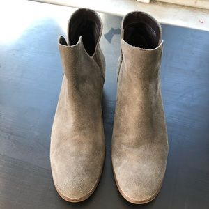 Cole Haan Taupe Suede Abbot Booties